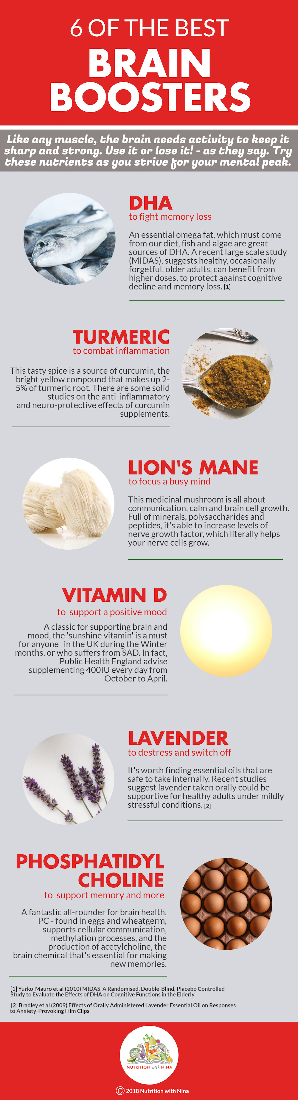 Use it or lose it! 6 nutrients to reach your mental peak_ An infographic by Nutrition with Nina