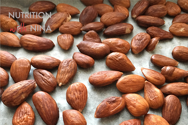tray of almonds